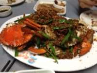 Shun Kee Typhoon Shelter Dinner <p> 	Crab with garlic</p>