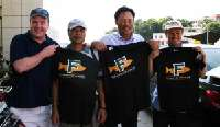 Zhapo Bay- Yangjiang Fish Farm Cage Culture Association  <p> 	Presenting the Association with some Fortune Fish t-shirts</p>