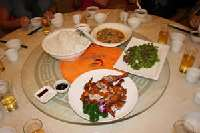 Gao Pin Wei -Dinner <p> 	Another traditional Chinese meal served family style</p>