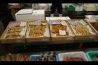 Tsukiji Market <p> 	We sampled some of these fish cakes</p>