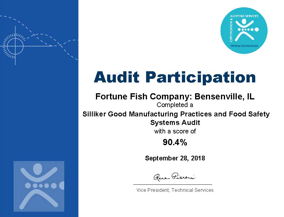 siliker-audit-certificate-fortune-fish-company